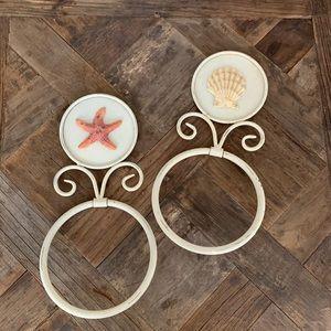 Seashell Towel Ring Set